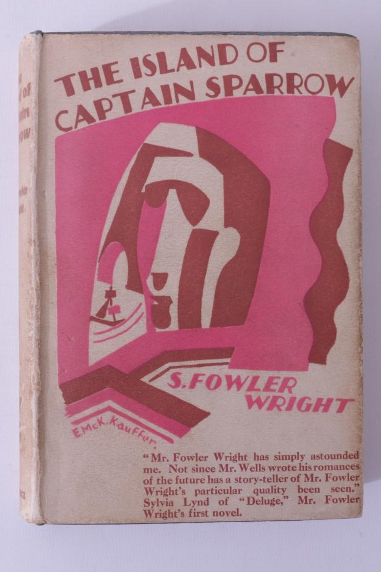 S. Fowler Wright - The Island of Captain Sparrow - Gollancz, 1928, First Edition.