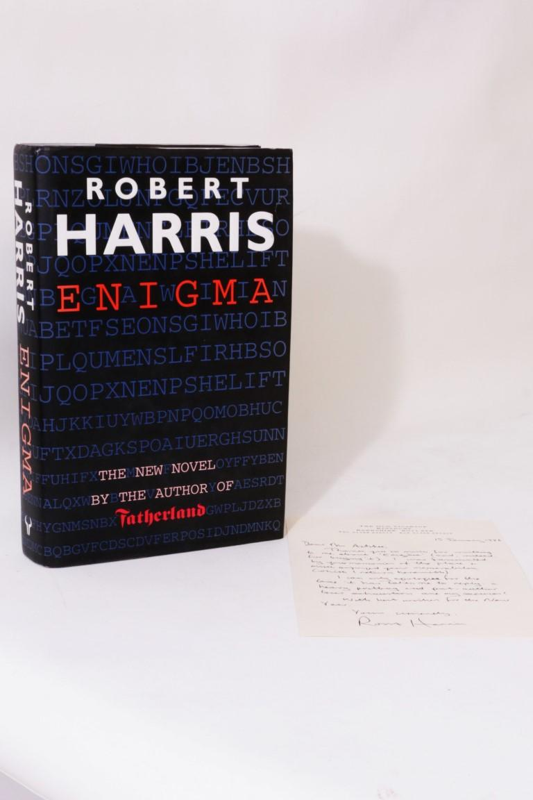Robert Harris - Enigma w/ Ephemera and ALS - Hutchinson, 1995, First Edition.