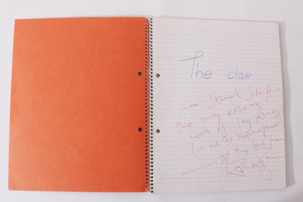 Ramsey Campbell [as Jay Ramsey] - The Claw, Autograph Manuscript - None, n.d. [c1981], Manuscript. Signed