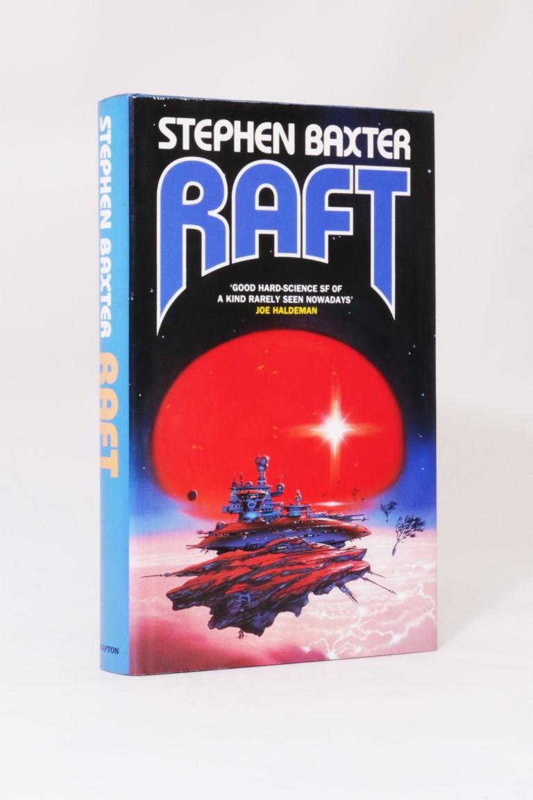 Stephen Baxter - Raft - Grafton, 1991, Signed First Edition.