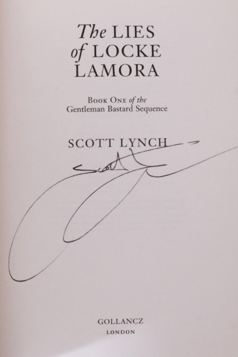 Scott Lynch - The Gentleman Bastard Sequence [comprising] The Lies of Locke Lamora, Red Seas Under Red Skies, The Republic of Thieves - Gollancz, 2006-2013, Signed First Edition.