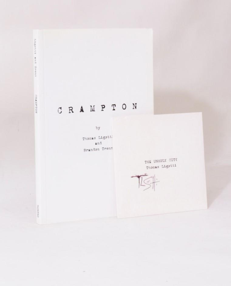 Thomas Ligotti and Brandon Trenz - Crampton - Durtro Press, 2002, Signed First Edition.