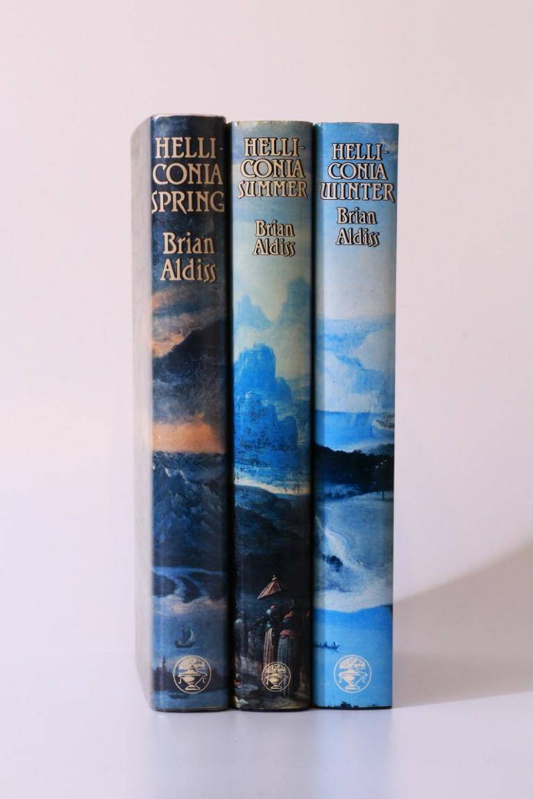 Brian Aldiss - The Helliconia Trilogy [comprising] Spring, Summer and Winter - Jonathan Cape, 1982-1985, First Edition.
