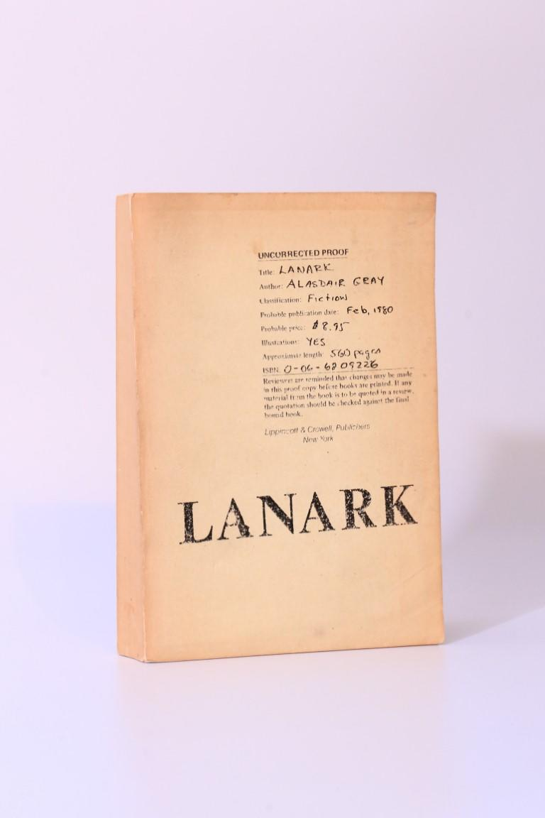 Alasdair Gray - Lanark - Lippincott & Crowell, 1980, Proof.