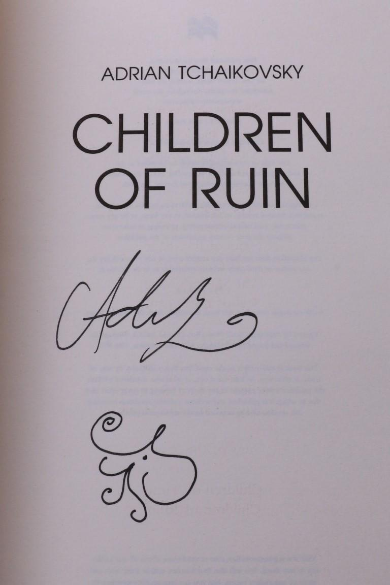 Adrian Tchaikovsky - Children of Ruin - Tor, 2019, Signed First Edition.