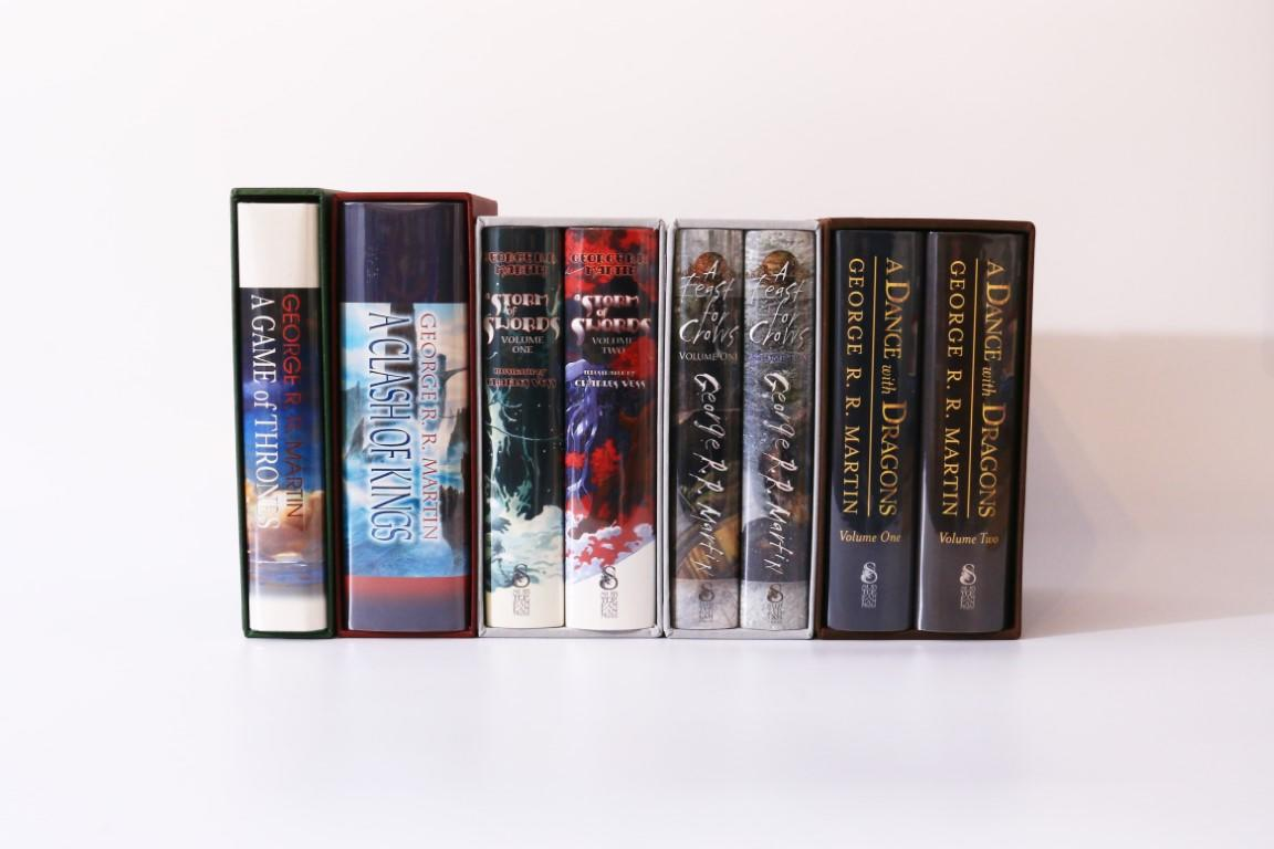 George R.R. Martin - A Song of Ice and Fire: A Set of Lettered Limited Edition [comprising] A Game of Thrones, A Clash of Kings, A Storm of Swords and A Feast for Crows - Meisha Merlin / Subterranean Press, 2000-2012, Signed Limited Edition