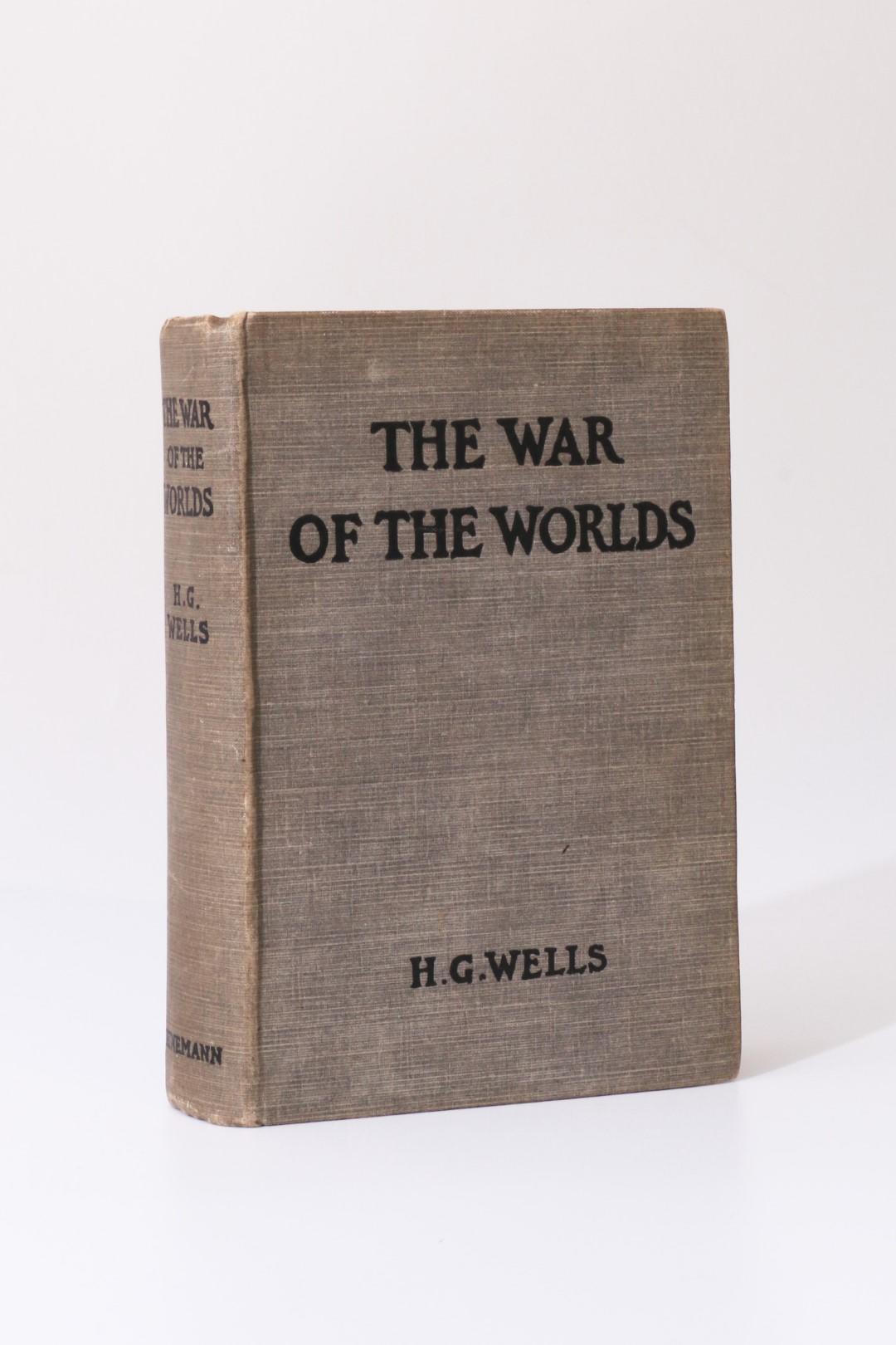 H.G. Wells - The War of the Worlds - Heinemann, 1898, First Edition.
