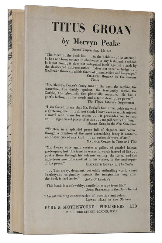 Mervyn Peake - The Gormenghast Trilogy [Titus Groan, Gormenghast, Titus Alone] - Eyre & Spottiswoode, 1946-1959 - Signed First Edition