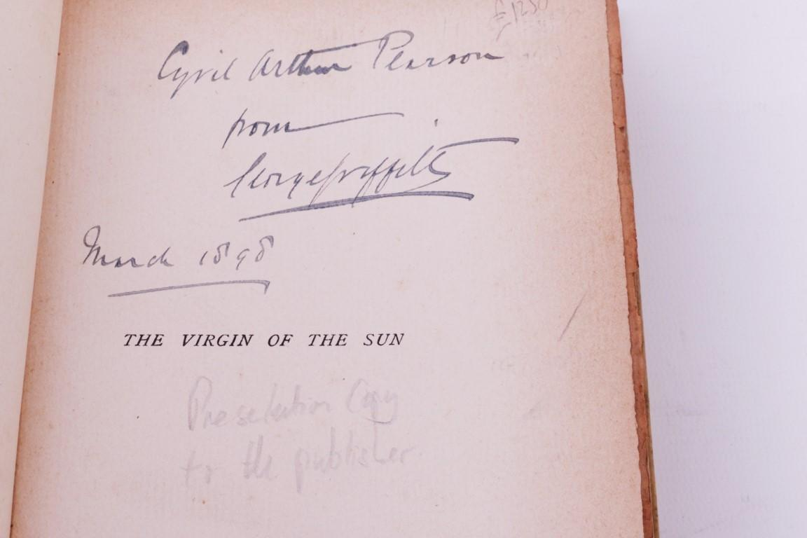 George Griffith - The Virgin of the Sun - Arthur Pearson, 1898, Limited Edition.  Signed