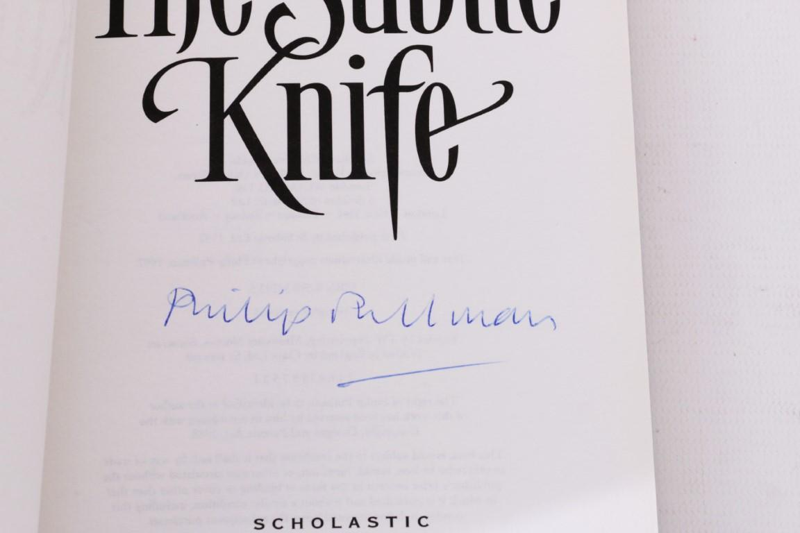 Philip Pullman - His Dark Materials Trilogy [comprising] Northern Lights, Subtle Knife & Amber Spyglass - Scholastic, 1995-2000, Signed First Edition.