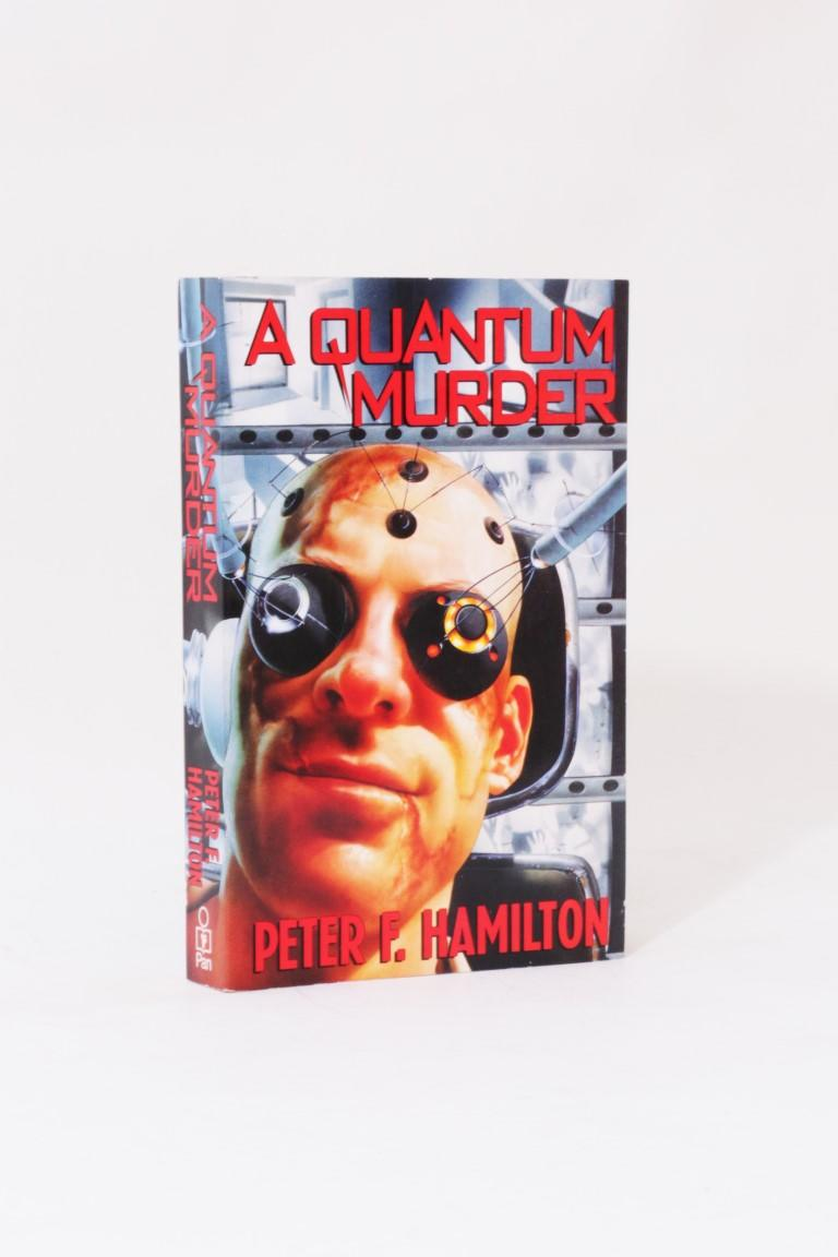 Peter F. Hamilton - A Quantum Murder - Pan, 1994, Signed First Edition.