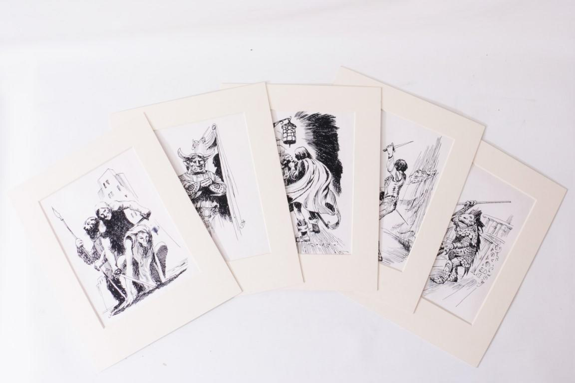 Jack Gaughan - Five Pieces of Original Art for Alan Burt Akers's Avengers of Antares - DAW, c. 1975, . Signed