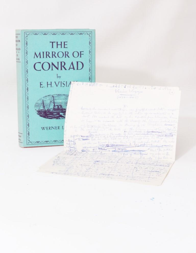 E.H. Visiak - The Mirror of Conrad - Werner Laurie, 1955, Signed First Edition.