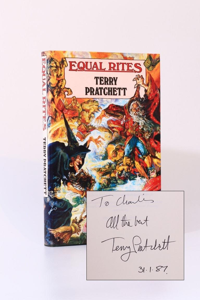 Terry Pratchett - Equal Rites - Gollancz, 1987, Signed First Edition.