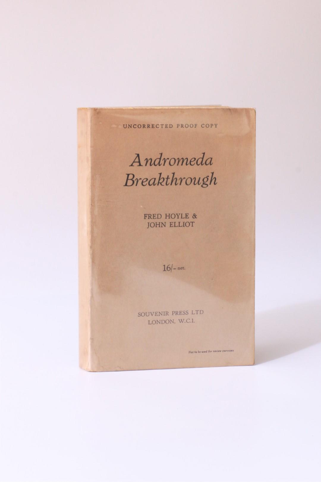 Fred Hoyle & John Elliot - Andromeda Breakthrough - Souvenir Press, 1964, Proof.