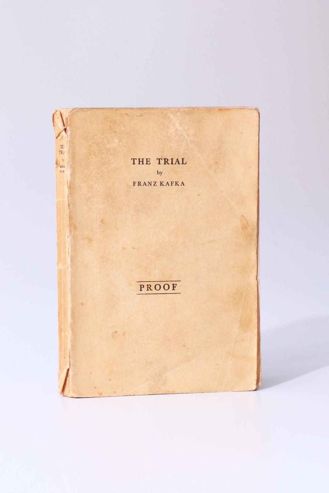 Franz Kafka - The Trial - Gollancz, 1937, Proof.