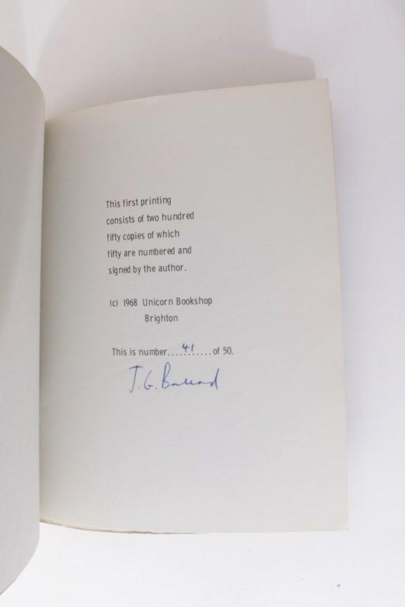 J.G. Ballard - Why I Want to Fuck Ronald Reagan - Unicorn Bookshop, 1968, Limited Edition.  Signed