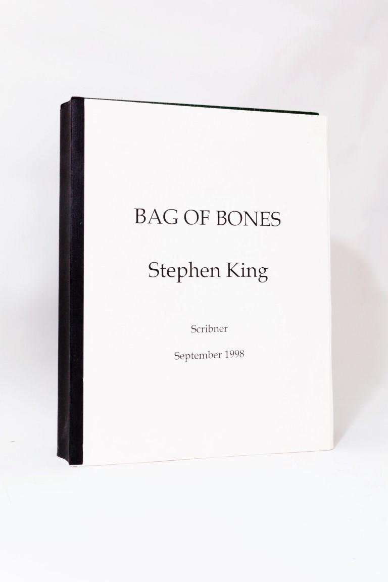 Stephen King - Bag of Bones - Scribner, 1998, Manuscript.