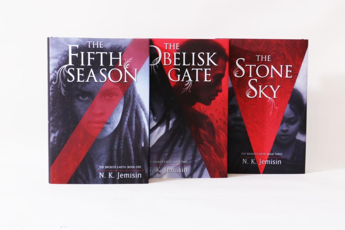 N.K. Jemisin - The Broken Earth Trilogy [comprising] The Fifth Season, The Obelisk Gate and The Stone Sky - Subterranean Press, 2017-2018, Signed Limited Edition.