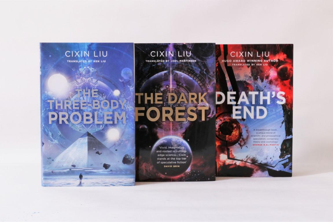 Cixin Liu [trans. Ken Liu] - The Remembrance of Earth's Past Trilogy [comprising] The Three-Body Problem, The Dark Forest and Death's End - Head of Zeus, 2015,  Signed