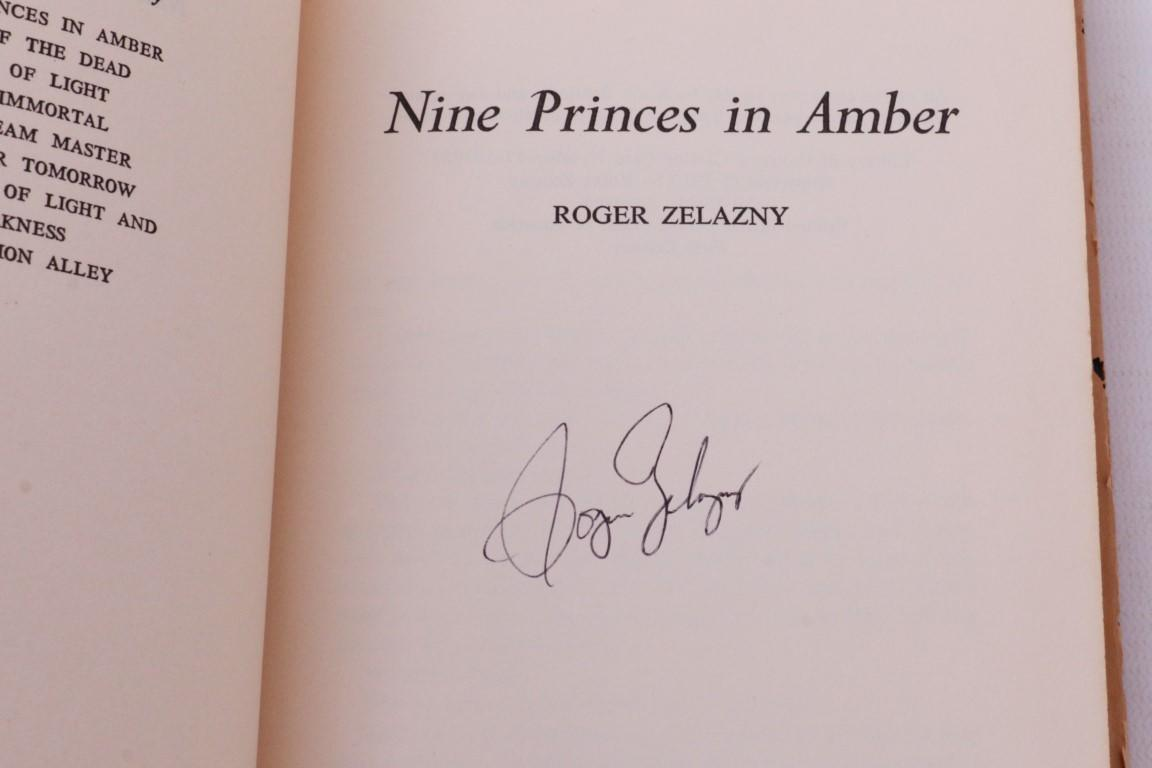 Roger Zelazny - Nine Princes in Amber - Doubleday, 1970, Signed First Edition.