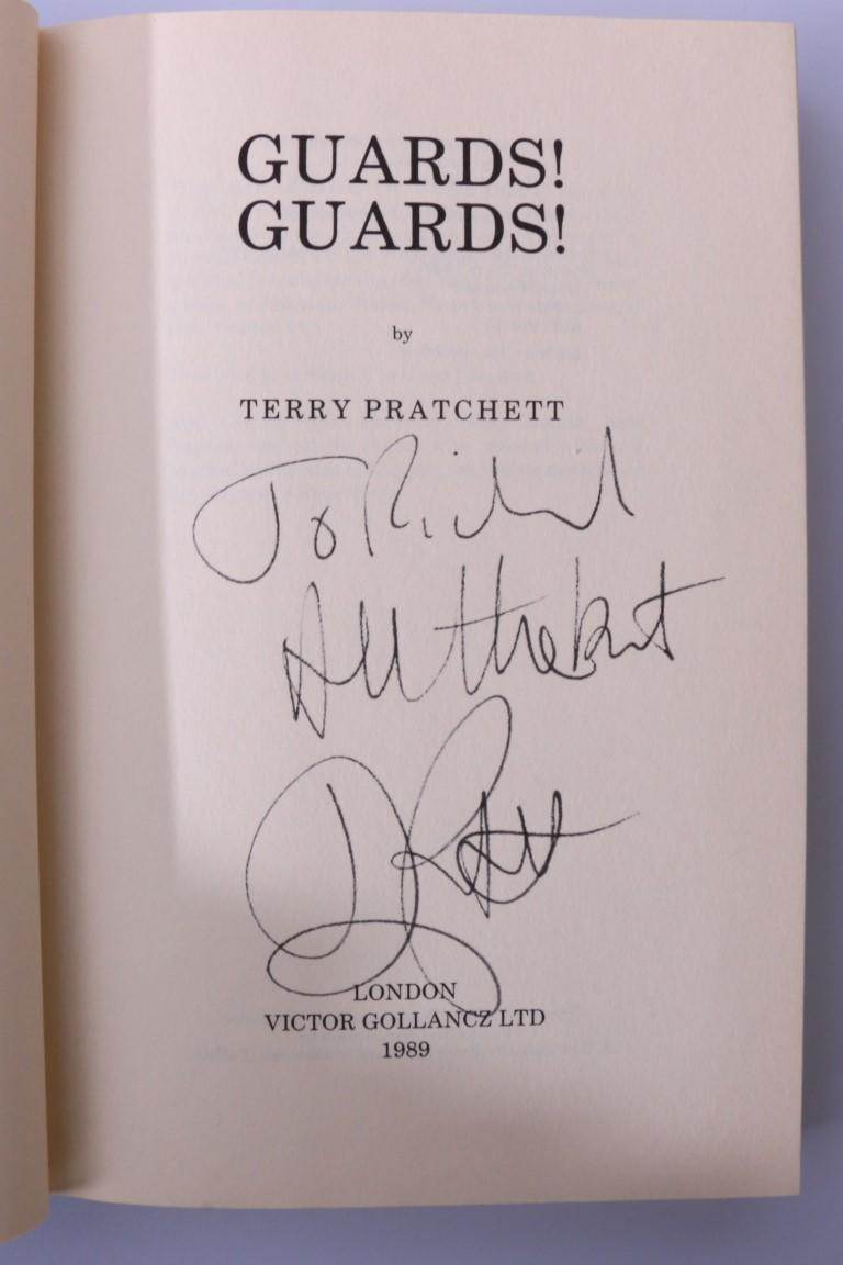 Terry Pratchett - Guards! Guards! - Gollancz, 1989, Signed First Edition.