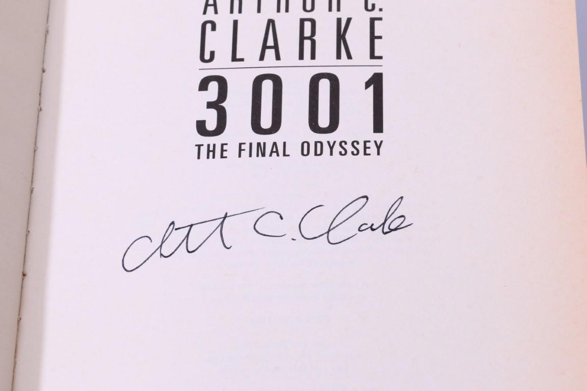 Arthur C. Clarke - 3001: The Final Odyssey - Voyager, 1997, Signed First Edition.