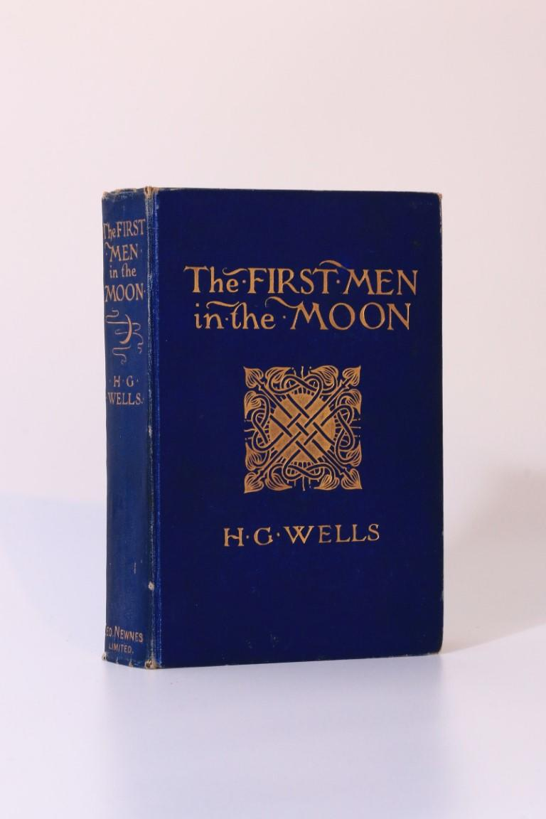 H.G. Wells - The First Men in the Moon - George Newnes, 1901, First Edition.