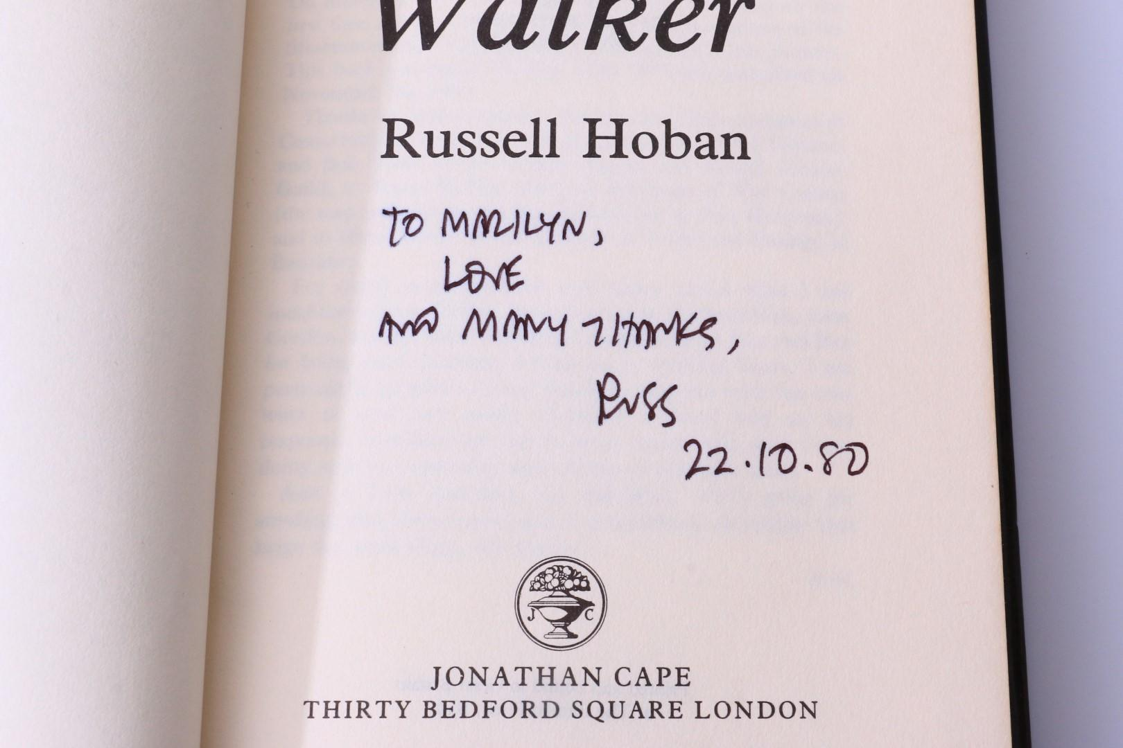 Russell Hoban - Riddley Walker First Edition w/ Proof - Jonathan Cape, 1980, First Edition.  Signed