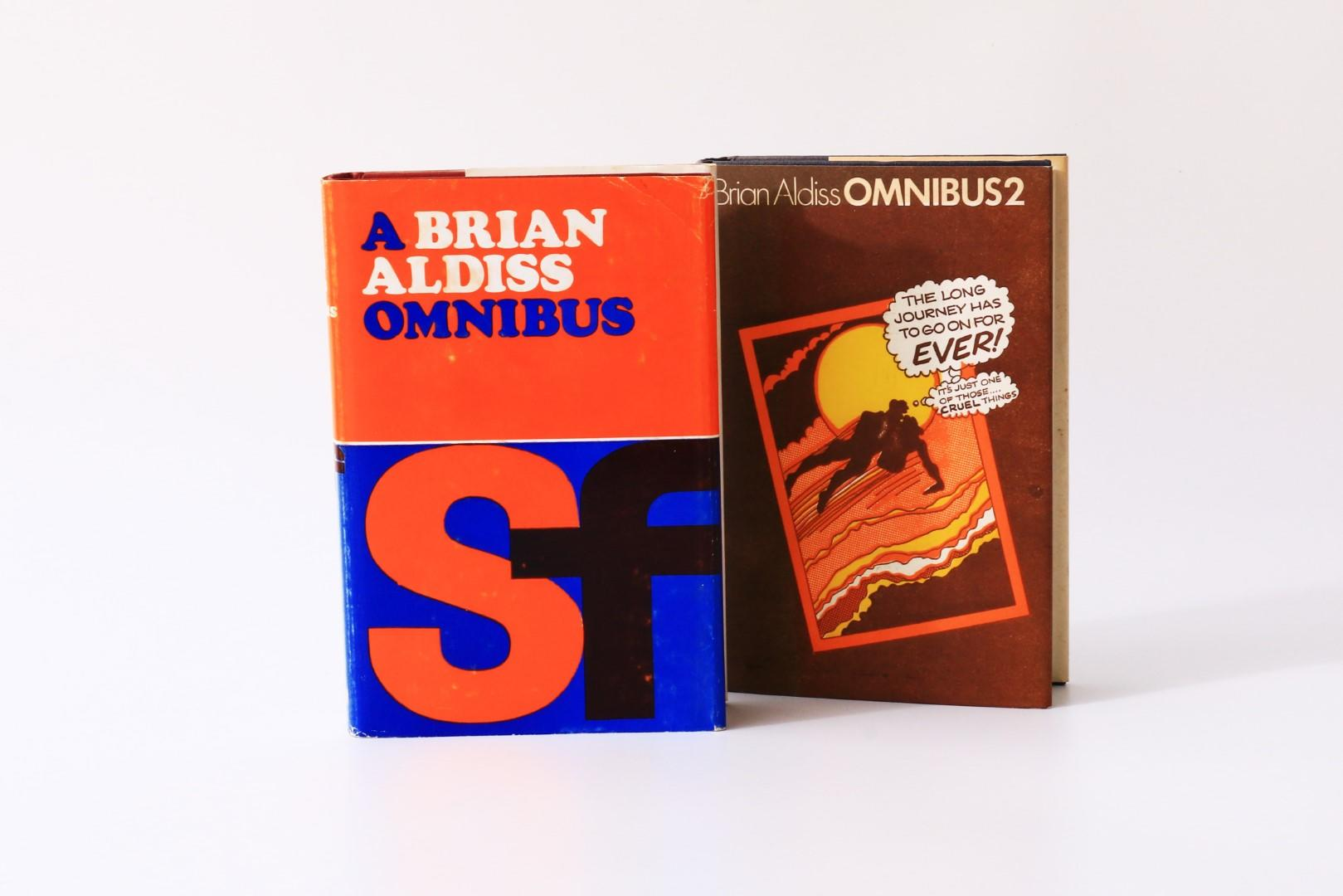 Brian Aldiss - A Brian Aldiss Omnibus w/ Omnibus 2 [the author's own copies] - Sidgwick & Jackson, 1969-1971, First Thus.