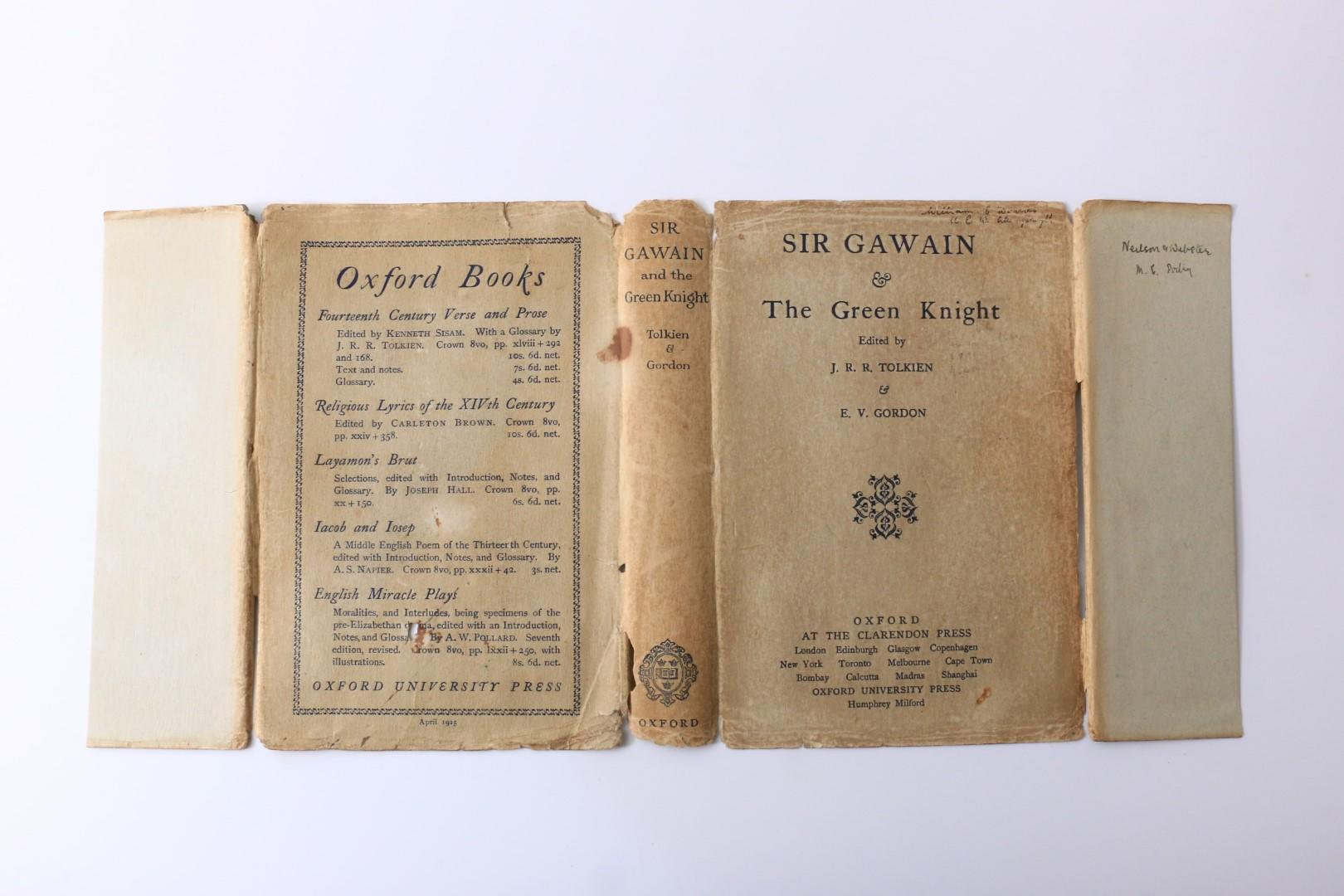 J.R.R. Tolkien - Sir Gawain and the Green Knight - Oxford University Press, 1925, First Edition.