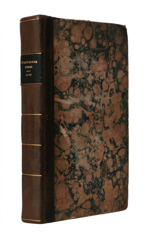 Thomas Rowley [Thomas Chatterton] - Poems - T. Payne and Son, 1777, UK First Edition