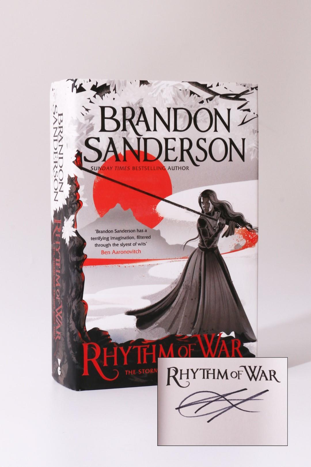 Brandon Sanderson - Rhythm of War - Orion, 2020, Signed First Edition.