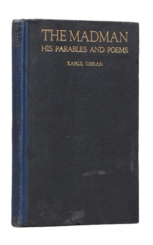 Khalil Gibran - The Madman. His Parables and Poems - Knopf, US, 1918 - Signed First Edition