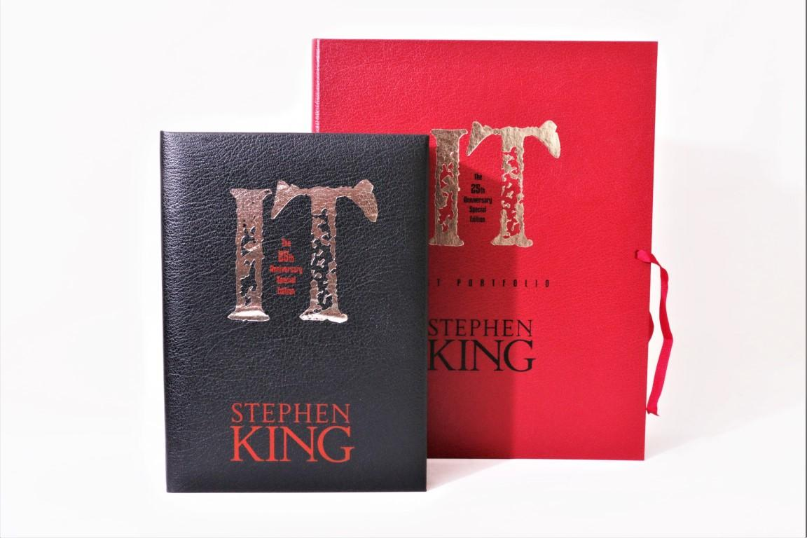 Stephen King - IT: 25th Anniversary Special Edition w/ Art Portfolio - Cemetery Dance, 2011, Signed Limited Edition.
