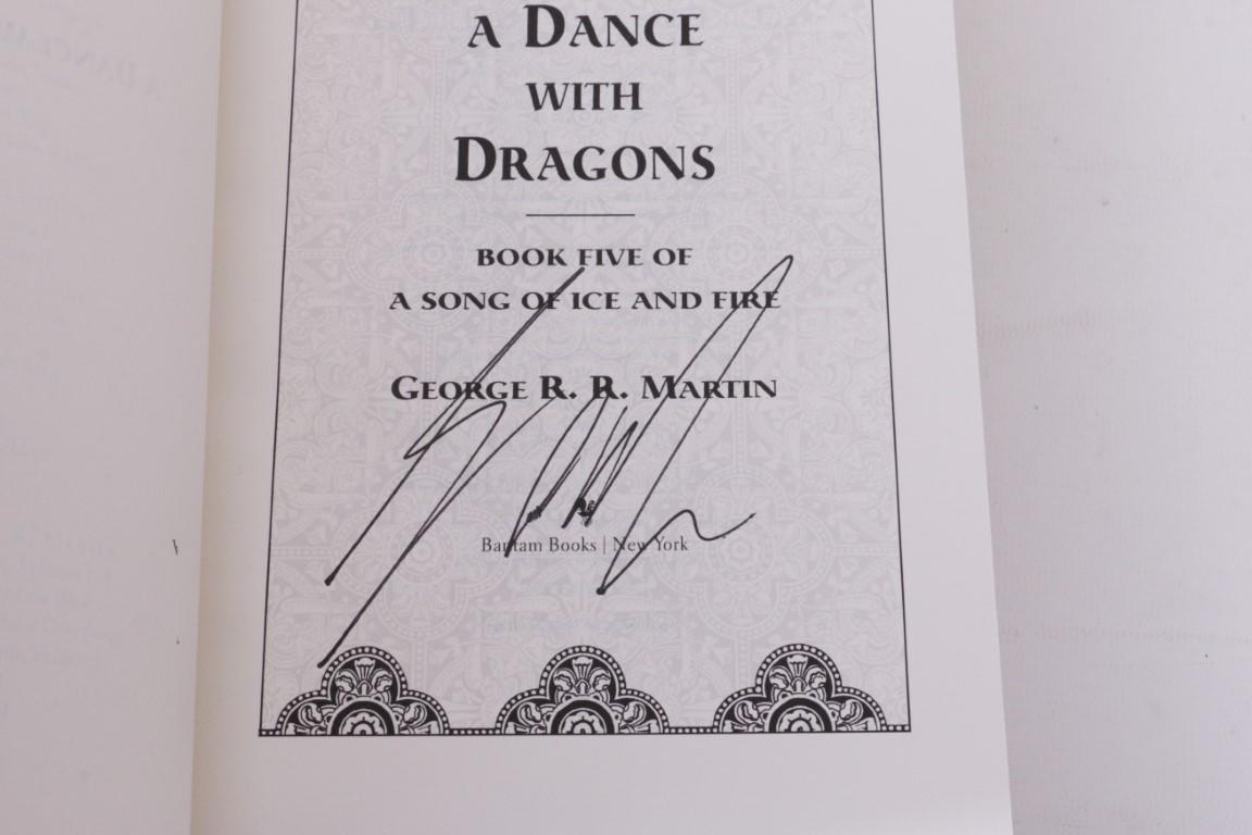 George R.R. Martin - A Song of Ice and Fire [comprising] A Game of Thrones, A Clash of Kings, A Storm of Swords, Feast for Crows and A Dance with Dragons - Bantam Press, 1996-2012, First Edition.  Signed