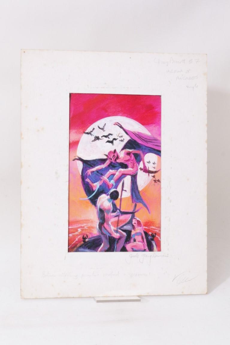 Jack Gaughan - Original Artwork. A Study for DAW Books for Arena of Antares. - DAW, c. 1974, . Signed