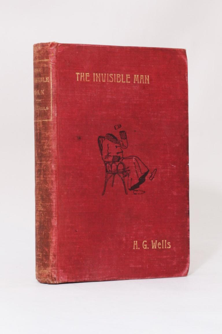 H.G. Wells - The Invisible Man - Arthur Pearson, 1897, First Edition.