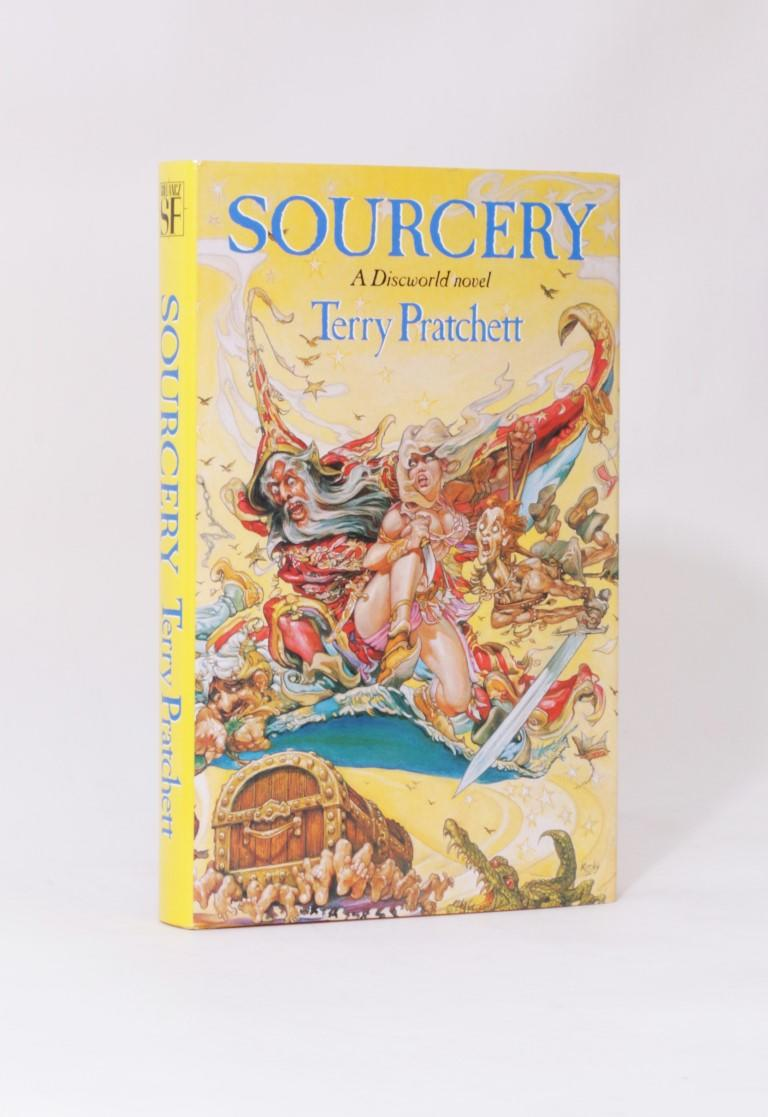 Terry Pratchett - Sourcery - Gollancz, 1988, Signed First Edition.