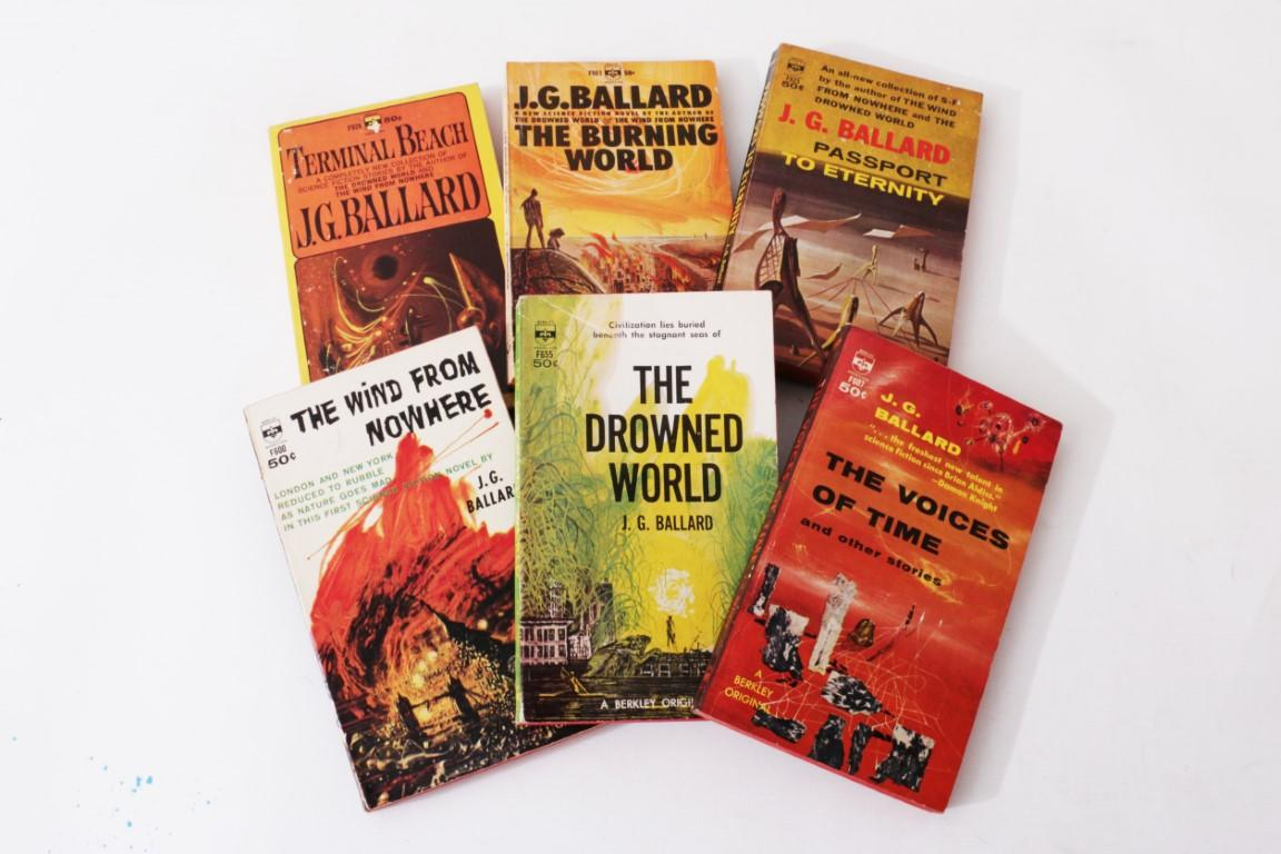 J.G. Ballard - Six Paperbacks - Berkley, 1962-1964, First Edition.