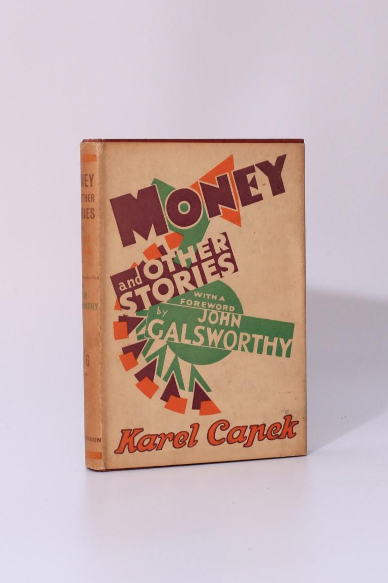 Karel Capek - Money and Other Stories - Hutchinson, 1929, First Edition.