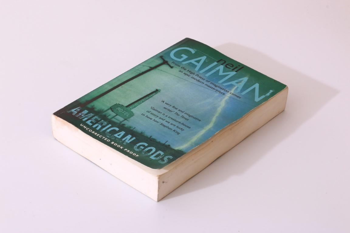 Neil Gaiman - American Gods - Headline, 2001, Proof.