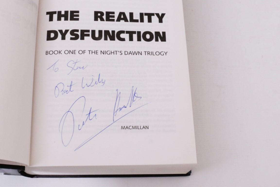 Peter F. Hamilton - The Night's Dawn Trilogy [comprising] The Reality Dysfunction, The Neutronium Alchemist and The Naked God [with] A Second Chance at Eden and The Confederation Handbook - Macmillan & Co., 1996-2005, Signed First Edition.