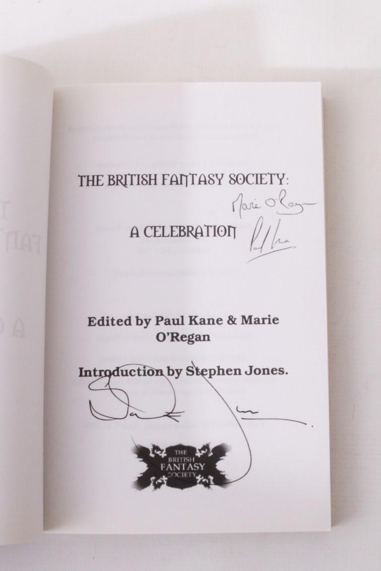 Paul Kane & Mario O'Regan - The British Fantasy Society: A Celebration - British Fantasy Society, 2006,Signed First Edition.