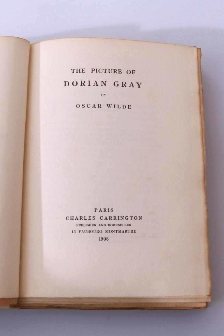 Oscar Wilde - The Picture of Dorian Gray - Charles Carrington, 1908, First Thus.