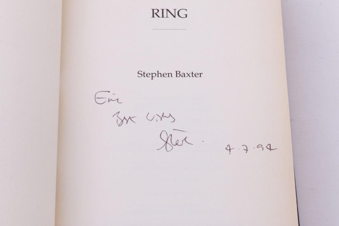 Stephen Baxter - Ring - Harper Collins, 1994, Signed First Edition.