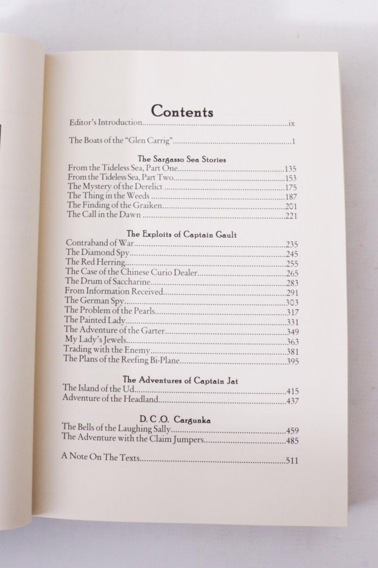 William Hope Hodgson - The Collected Fiction [comprising] Boats of Glen Carrig; House on the Borderland; Ghost Pirates; Night Land and Dream of X.  - Night Shade Books, 2003, Firsts Thus.