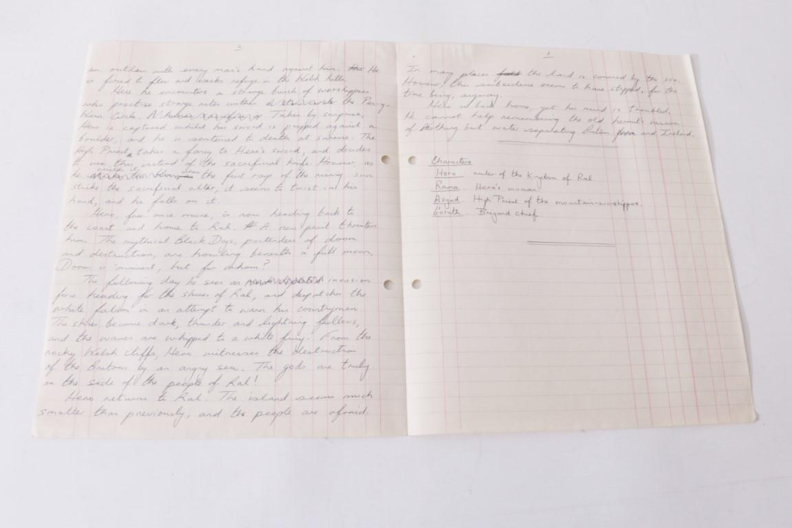 Guy N. Smith - Hero of Ral: Typescript - None, n.d. [1970s], Manuscript. Signed