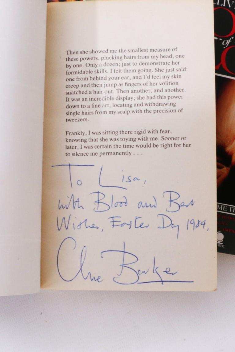 Clive Barker - Books of Blood - An Association Copy - Sphere, 1984-1985, Signed First Edition.