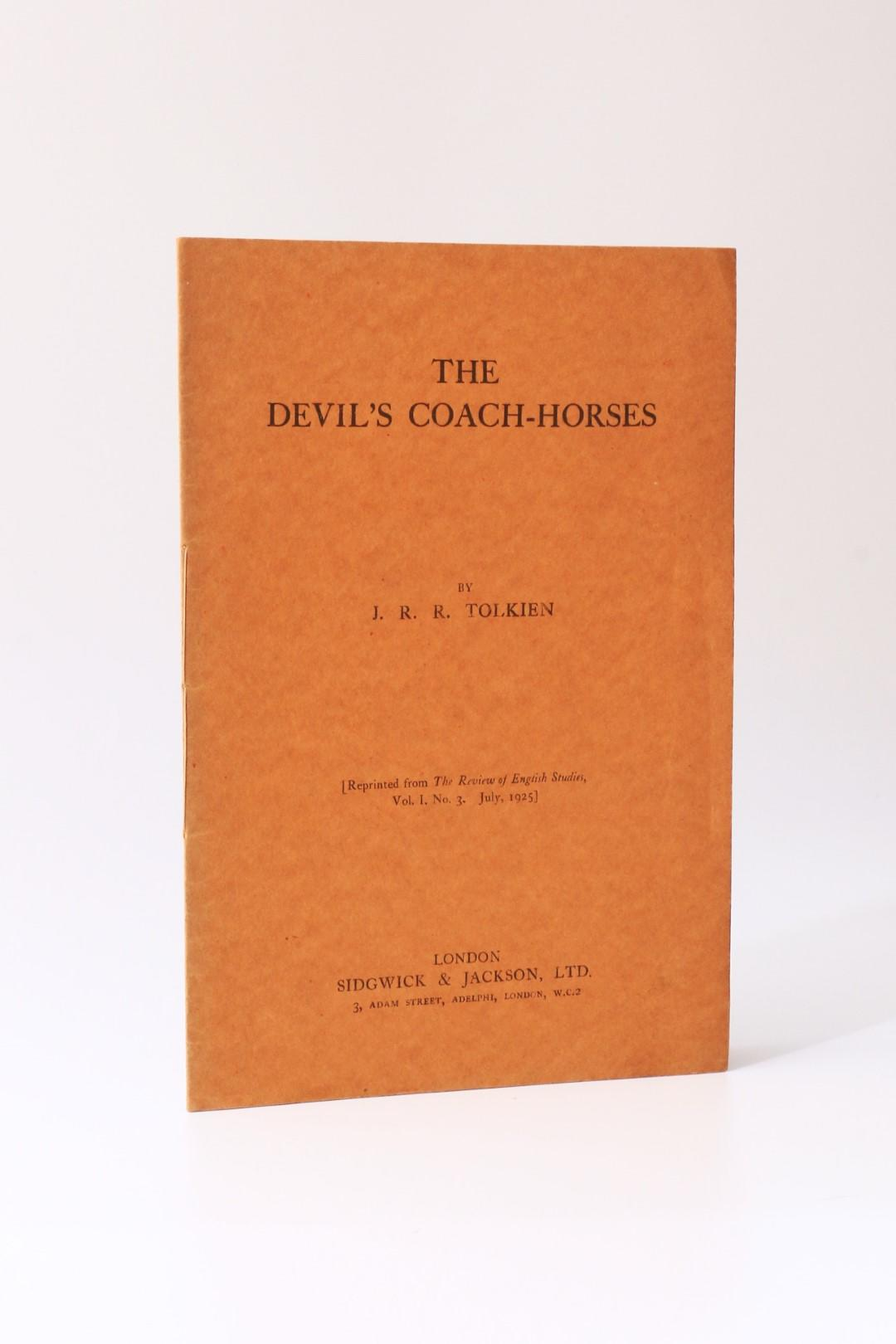 J.R.R. Tolkien - The Devil's Coach-Horses - Sidgwick & Jackson, 1925, First Edition.